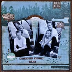 A layout made using the Outdoor Trail Collection from kaisercraft By Kelly-ann Oosterbeek.