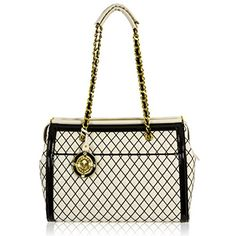 Coach Ava Tote Handbag in Exotic Trim Leather - Black \u0026amp; White ...