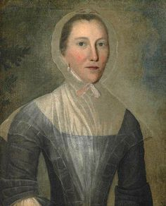 1763 Joseph Badger (American colonial era artist, 1708-1765) Mary Croswell.