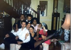 """Freddie Mercury, Carol Woods, Dale Shields and the London cast of """"Blues in the Night"""" (Debby Bishop, Carol Woods, and Peter Straker) LONDON, ENGLAND (UK)"""
