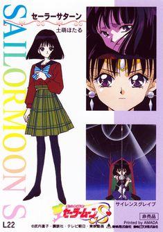 土萠ほたる / セーラーサターン Hotaru Tomoe / Sailor Saturn - Sailor Moon S - 2nd Memorial card