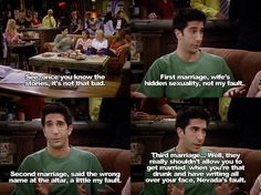 Lol Ross is so bad at marriage