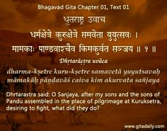 Bhagavad Gita chapter 01, Text 01