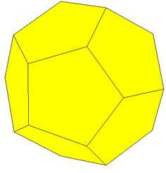 Los Elementos de Euclides (aunque en realidad no sabemos qué partes de los Elementos son originales de Euclides, si hay alguna) culminan en el libro XIII y último con la construcción de los 5 poliedros regulares.  Presentamos aquí la construcción del dodecaedro que aparece en la proposición 17 del