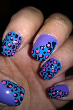 Nail designs- cheetah