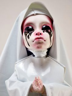 OOAK Monster High Custom Repaint Art Doll - American Horror Story Asylum White Nun. $300.00, via Etsy.