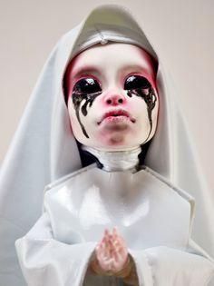OOAK Monster High Custom Repaint Art Doll - American Horror Story Asylum White Nun. $300.00, via Etsy.