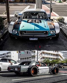 Mustang today that is inspired by the history of the sports car. Cool Sports Cars, Sport Cars, Cool Cars, Custom Muscle Cars, Custom Cars, Custom Wheels, Mustang Drift, Drifting Cars, Weird Cars