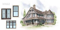 Shingle Home Style Window Door Overview