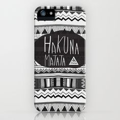 HAKUNA MATATA  iPhone Case by Vasare Nar - $35.00 I WANT THIS SO BAD FOR CHRISTMAS. SOMEBODY PLEASE GET IT FOR ME!