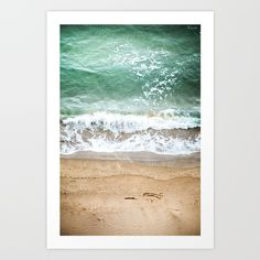 Beachy Art Print by Marie Carr - X-Small Beach Art, Waves, Tapestry, Art Prints, Abstract, Photography, Outdoor, Home Decor, Products