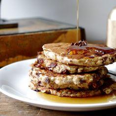 Chocolaty Oatmeal Pancakes