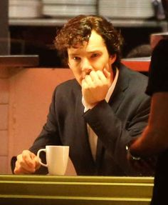 """Pizza and coffee two of my favorite things"" Benedict Cumberbatch #Sherlock #BBC"