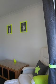 Real Rooms: Naomi's Neon Nursery l Neon yellow and silver nursery l Star feature wall l Grey nursery l STYLE CURATOR
