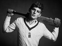 Kent & Curwen Heritage Menswear - Cricket Jumper  model: Sebastian Sauvé