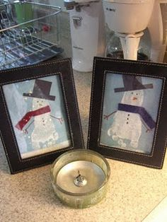 Cute little snowmen from cute little feet!