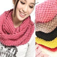 Fd462 Winter Warm Bubble Corn Dot Knitting Wool Circle Scarf Neck Warmers 1Pc
