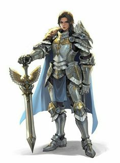 Female Knight Fighter - Pathfinder PFRPG DND D&D d20 fantasy