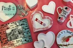 PYOP Hand Painted pottery makes a great date night or gift. These pieces were all created at Paint a Piece in Memphis, TN.