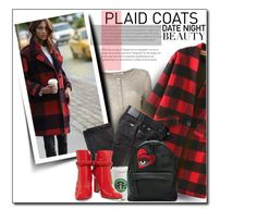 """""""Plaid Coats"""" by luvfashn ❤ liked on Polyvore featuring T By Alexander Wang, WithChic, BRAX, Chiara Ferragni and Valentino"""