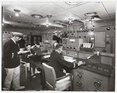 """[S.S. """"Normandie"""", Wireless Room.]"""