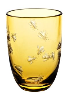 The Theresienthal Planet Earth Bees tumbler in tangerine, as featured in the Holiday 2013 issue, is true art. The Planet Earth glasses are illustrations of philosophical thoughts, expressed not in words, but with shape, colors, cut or engraved pictures   domino.com