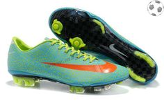 sale da4c6 6f439 Nike Mercurial Vapor Superfly III FG Safari Vert Orange Bleu FT5091