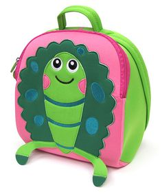 Another great find on #zulily! Green & Pink Turtle Backpack by Oops #zulilyfinds