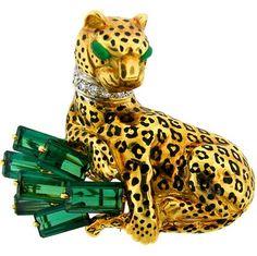 Cartier Panther and Emerald brooch