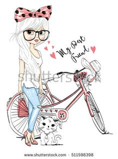 Find Cute Girl Set stock images in HD and millions of other royalty-free stock photos, illustrations and vectors in the Shutterstock collection. Girl Drawing Sketches, Cartoon Girl Drawing, Cool Sketches, Cartoon Drawings, Cute Drawings, Cute Cartoon Girl, Cute Girl Wallpaper, Nyan Cat, Illustration Girl