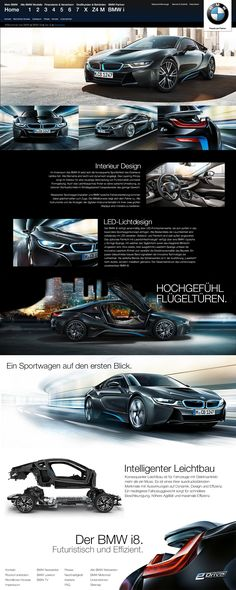 unofficial BMW i8 Webpage Redesign