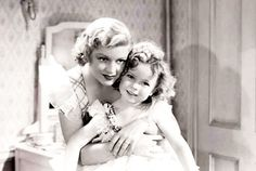 Claire Trevor and Shirley Temple in Baby Take A Bow, 1934.
