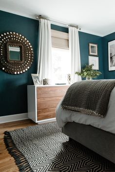 36 modern blue master bedroom ideas 8 36 modern blue master bedroom ideas 8 EvaEmily EvaEmilyM Ben s Appartement 36 Modern Blue Master Bedroom Ideas masterbedroom masterbedroomideas modernmasterbedroom nbsp hellip Ceiling ideas Blue Master Bedroom, Bedroom Green, Dark Teal Bedroom, Teal Bedroom Walls, Master Bedrooms, Small Bedroom Paint Colors, Peacock Blue Bedroom, White Bedroom Furniture With Green Walls, Best Colour For Bedroom