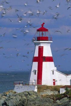 East Quoddy Lighthouse - New Brunswick Campobello Island...