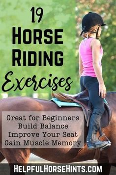 19 Beginner Horse Riding Exercises to Shake Up Your Routine Mastering the fundamentals of horseback riding is an important part of becoming a good rider. These 19 beginner horse riding exercises will help you learn the fundamental skills Begi Horse Riding Tips, Horse Tips, Trail Riding, Horse Riding Games, Horseback Riding Lessons, English Horseback Riding, Horse Exercises, Horse Therapy, Horse Games