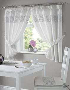 Urban Kitchen Curtains - Silver