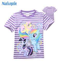 >> Click to Buy << 2017 Summer Clothes Girls T-shirt Cartoon My little Girl Pony T Shirt Tops Tee Children Clothes Baby Boys  T Shirt  #Affiliate