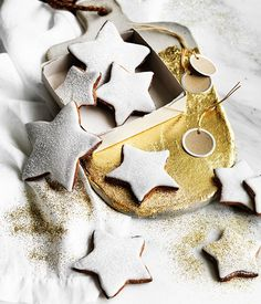 Gingerbread stars with buttermilk icing recipe :: Gourmet Traveller