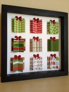 Christmas Present 3d, Diy Christmas Cards, Easy Christmas Crafts, Christmas Art, Christmas Projects, Handmade Christmas, Christmas Decorations, Christmas Ornaments, Origami Christmas
