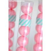 6 Pack - Clear Plastic Gumball / Candy Tubes