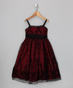 Take a look at this Black & Red Floral Dress - Toddler & Girls by Kid's Dream on #zulily today!