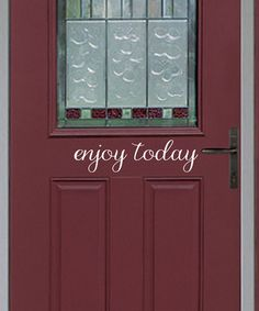 Another great find on #zulily! White Cursive 'Enjoy Today' Decal - Set of Two…