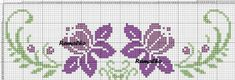 Here you can look and cross-stitch your own flowers. Cross Stitch Borders, Cross Stitch Flowers, Cross Stitch Designs, Cross Stitching, Cross Stitch Patterns, Floral Embroidery Patterns, Diy Embroidery, Cross Stitch Embroidery, Bordado Tipo Chicken Scratch