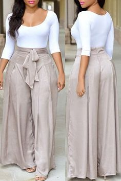 6d20e1a91dfcd 2 piece crop top and loose silk look pants 2 piece crop top and loose silk  look wide leg pants Pants Jumpsuits   Rompers