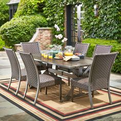 Hampton Bay Carleton Place 7 Piece Patio Dining Set