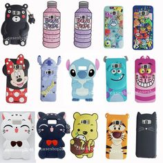 Cartoon Cute Monsters Stitch Bear soft Case Cover for samsung galaxy S7 S8 plus #UnbrandedGeneric