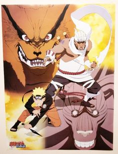 Naruto - Poster of Uzumaki Naruto Killer Be and Jinch Riki 42cmx57cm | myMzone
