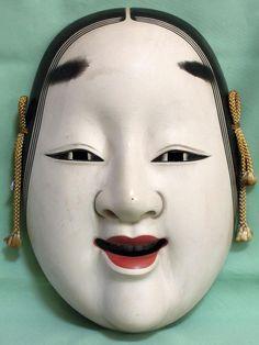 Japanese Noh Mask, Japanese Kimono, Oriental, Geisha Tattoo Design, Fantasy Book Series, Samurai, Japanese Monster, Female Mask, Cool Masks