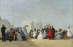 Eugène Boudin | Eugène Boudin. Plage auxenvirons de Trouville 1864 Huile sur toile 67 ...