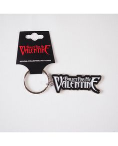 BULLET FOR MY VALENTINE – OFFICIAL LOGO KEY CHAIN  Size: Width 6 cm, Height 2.25 cm  Free Shipping to anywhere in Australia.